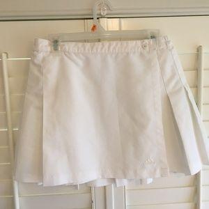 Adidas White Tennis Skirt Button close w/elastic